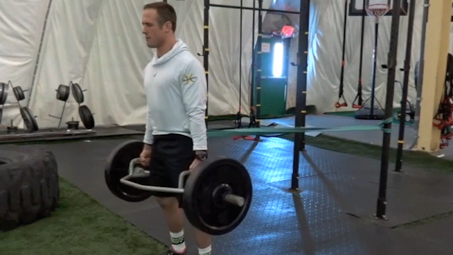 Trap Bar Deadlift with Band Hip Pull - STACK