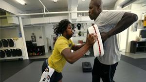 No. 1 recruit, defensive end Rashan Gary of Paramus Catholic (Paramus, N.J.), working with strength trainer, Dwayne Riggins at Maximum Athletics gym. (Photo:  Noah K. Murray-USA TODAY Sports)