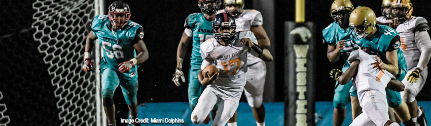 Dade Takes Win Over Broward in Miami Dolphins Junior Dolphins Dade vs. Broward All Star Game Presented by Broward College